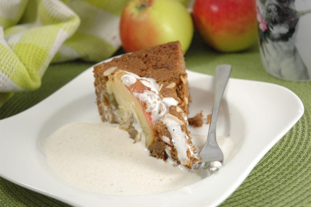Versunkener Bratapfel Kuchen