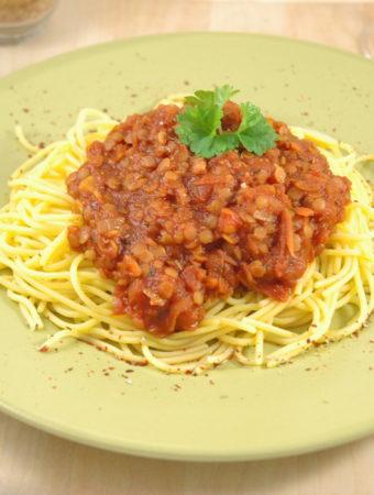 Spaghetti  – Linsenbolgnese