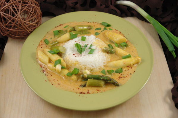 Spargel Curry
